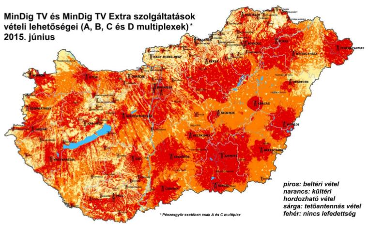 upc lefedettség magyarország térkép MinDig TV csatornakiosztás   sat tv radio upc lefedettség magyarország térkép
